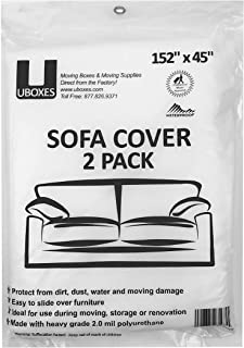 """Sofa Moving Covers (2 Pack) - 45"""" x 152"""" - Moving & Storage Bags - UBOXES"""