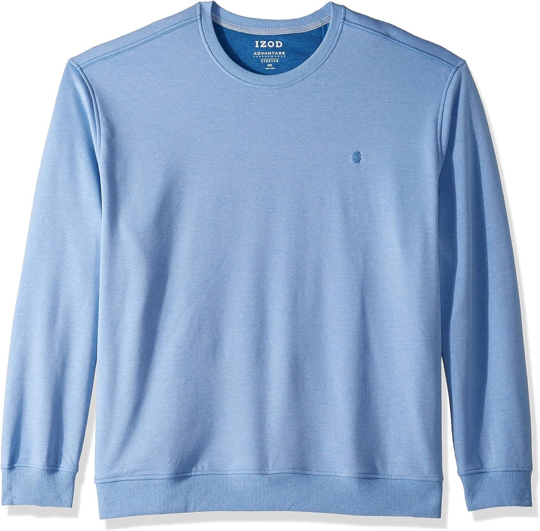 IZOD Mens Big and Tall Advantage Performance Crewneck Fleece Sweatshirt