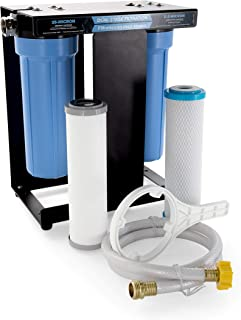 Camco 40639-A TastePURE RV Dual Canister Water Filter, Carbon KDF | Premium Filtration | Long Life Expectancy (40639)