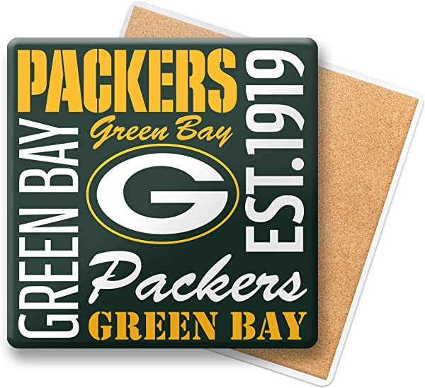 NFL Green Bay Packers Ceramic Spirit Coaster Pack Of One