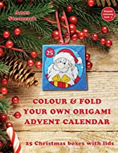 Colour & fold your own origami advent calendar - 25 Christmas boxes with lids: UK edition (Origami colouring book) (Volume 4)