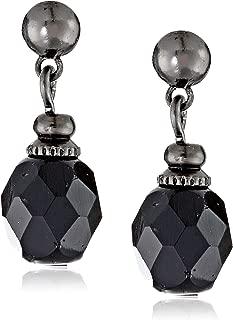 1928 Jewelry Elegant Black Drop Earrings