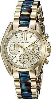 ساعة مايكل كورس للنساء بمينا لون ذهبي و سوار من الستانلس ستيل - MK6318