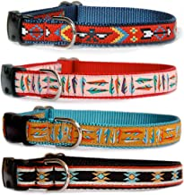 Ribbon Dog Collar : Navajo, Santa Fe, Southwestern & Native American influenced Designer Dog Collar for Puppies, Small Dogs to Large Dogs. Made in The U.S.A.