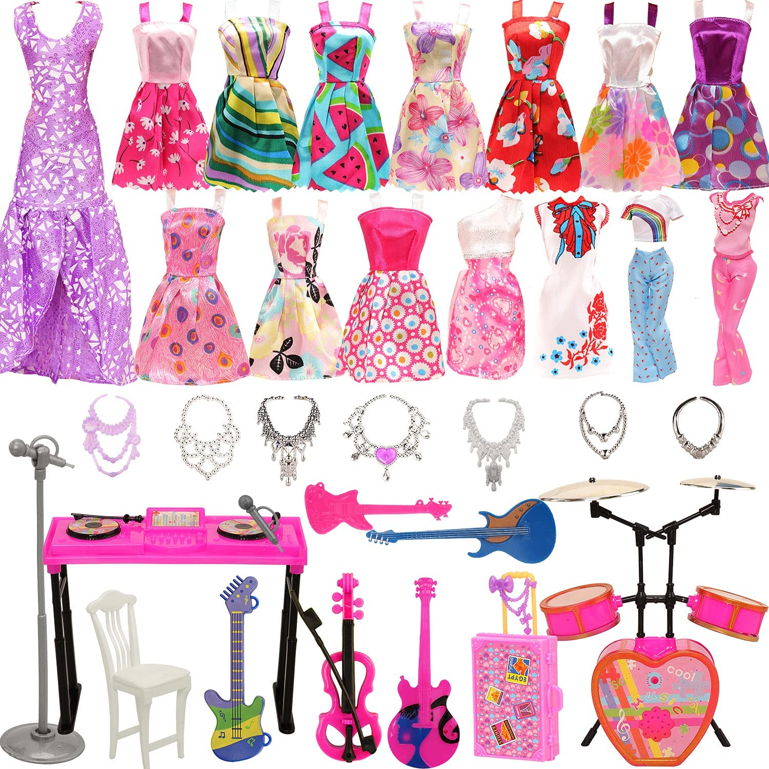 Miunana Lot 35 pcs Random Year-end annual account Entertainment Clothes Musical and Set Reservation