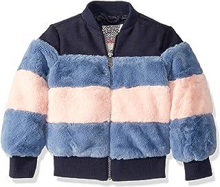 Kensie - Girl's Outerwear Girls' Little Mixed Media Bomber Jacket