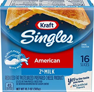 Kraft Singles Reduced Fat American Cheese (16 Slices)