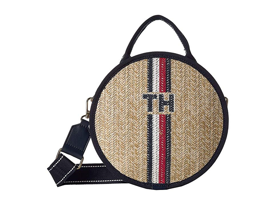 Tommy Hilfiger Evie Circle Crossbody (Natural) Handbags, Beige