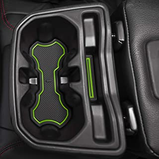 CupHolderHero for Jeep Wrangler JL and JLU Unlimited 2018-2020 Custom Fit Cup Holder, Door, and Center Console Liner Accessories 24-pc Set (Green Trim)