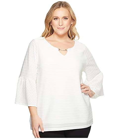 539903099ce Calvin Klein Plus Plus Size Ottoman Flutter Sleeve Top With Hardware ...