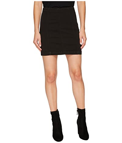 Free People Denim Modern Femme Skirt (Black) Women