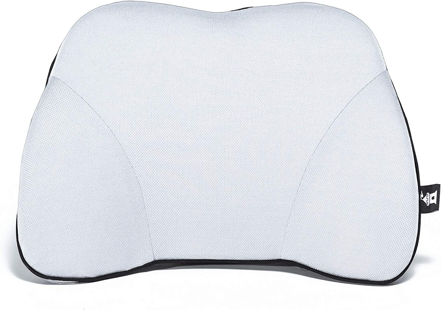 Castle Squire Firm Memory Foam Lower Back Backrest - Dense Foam Padding Lumbar Support Pillow for Home, Office, Auto, and Travel (Squire Size, Bone)