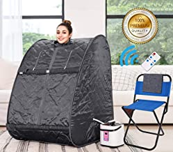 Himimi 2L Foldable Steam Sauna Portable Indoor Home Spa Weight Loss Detox with Chair Remote (New)