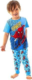 Spider-Man Pijamas Comic Kids Boy's Blue Long PJ Ropa de Dormir