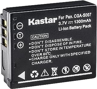 Kastar CGA-S007 Battery Pack for Panasonic Lumix DMC-TZ5, DMC-TZ11, DMC-TZ15, DMC-TZ50 DMC-TZ1 DMC-TZ2 DMC-TZ3 DMC-TZ4 and Panasonic Lumix CGA-S007 CGA-S007A CGA-S007A/1B CGA-S007E DMW-BCD10 DE-A25