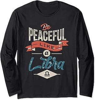 Vintage Libra Symbol Zodiac Sign Funny Quote Birthday Gift  Long Sleeve T-Shirt