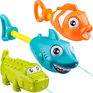 JOYIN 3 Pack Animal Character Water Guns for Kids, Water Blaster Squirt Guns and Pump Super Water Soakers for Kids & Toddl...
