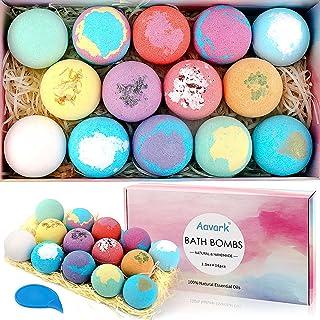 Bath Bombs, Aavark 14Pcs Bath Bombs Gift Set with Organic Natural Essential Oils, Sea Salt, Shea Butter to Moisturize Ski...