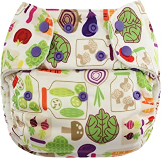 Blueberry Organic One Size Simplex All in One Cloth Diapers, Made in USA (Veggies)