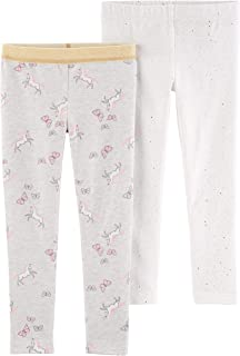 Carter's Girl's 2-Pack Pull-on Stretch Leggings