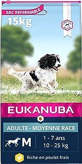 Eukanuba - Croquettes Premium Chiens Adultes Moyennes Races - 100% Complète et Equilibrée - Sans Protéines Végétales Caché...