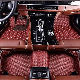 gangjianlan Car Floor Mats Fit for Skoda Superb 2008-2015 Custom Fit Carpets Floor Liner All Weather Non-Slip Waterproof Custom Made Artificial Leather Wine red