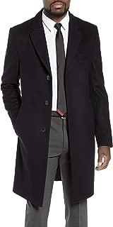 Men's Nye Wool-Cashmere Slim Fit Black Coat