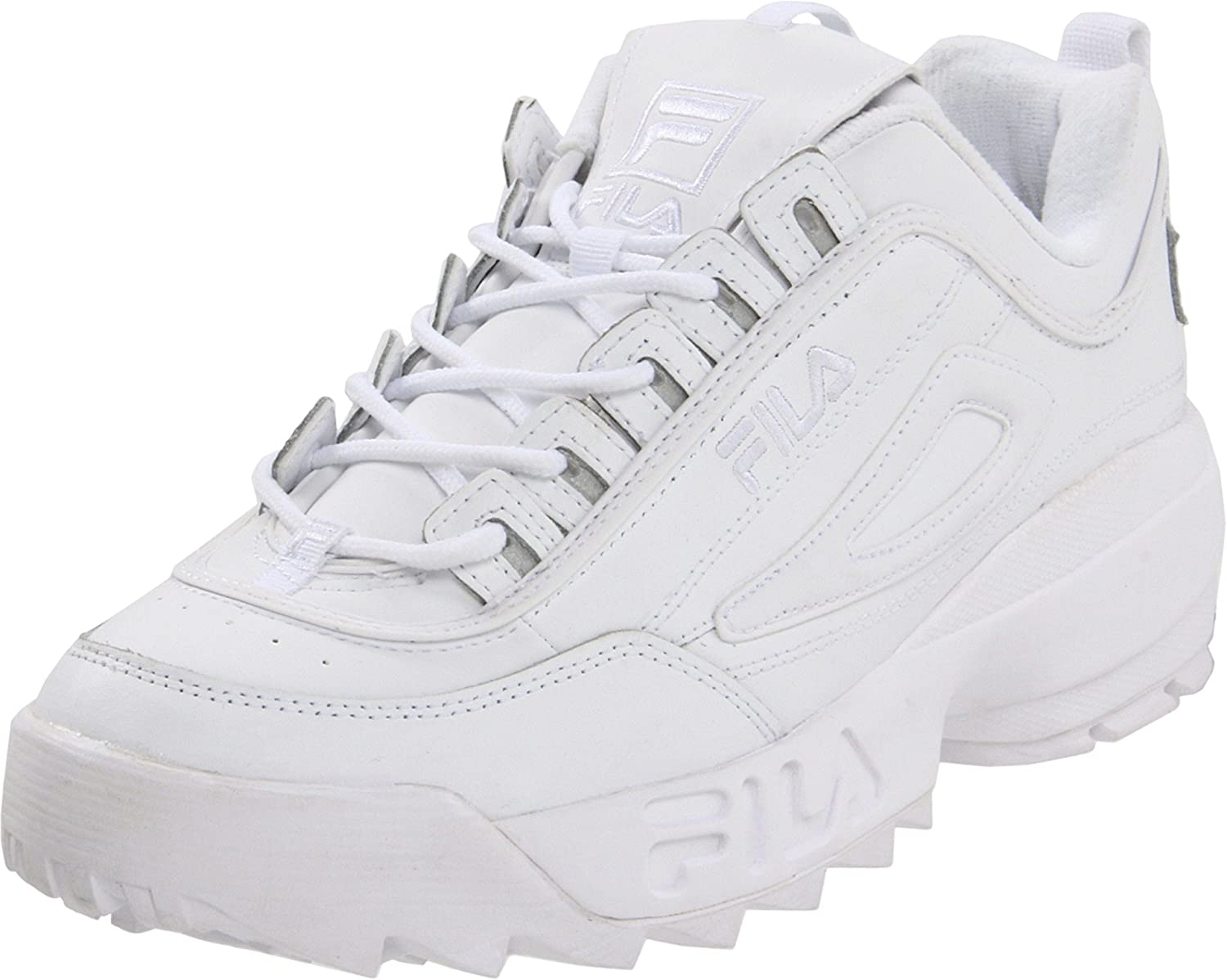 Fila Men's Strada Disruptor, bianca, 9.5 D-Medium