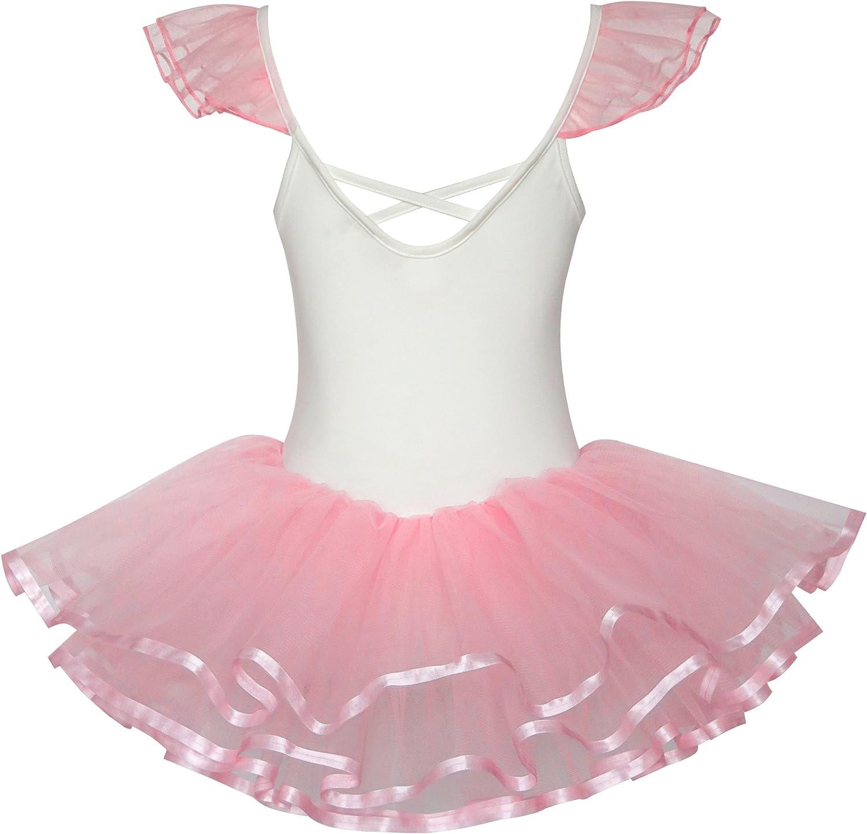 86-122 Sunny Fashion M/ädchen Kleid Niedlich Tutu Tanzen Rosa Herz Party Gr