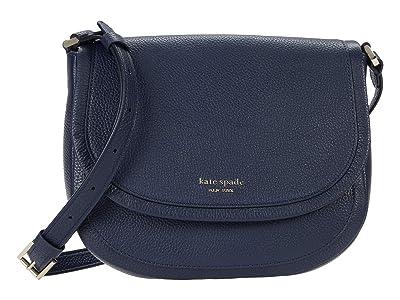 Kate Spade New York Roulette Large Saddle Bag (Blazer Blue) Handbags