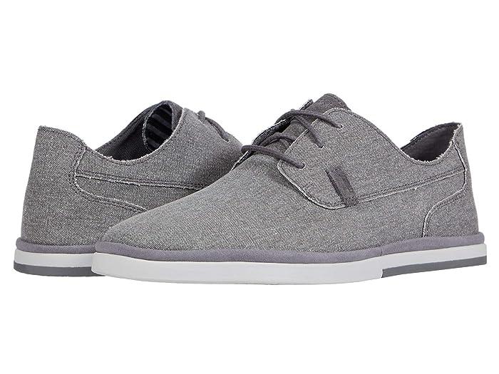 Rockport  Austyn Plain Toe (Steel Grey Canvas) Mens Shoes