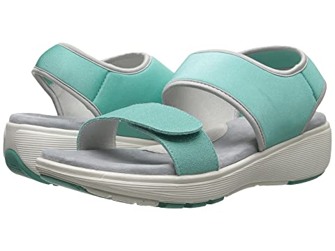 SoftWalk Elements Turquoise/Turquoise/Silver Embossed Leather Women