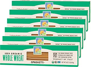 Bionaturae Spaghetti Whole Wheat Pasta | Whole Wheat Spaghetti Pasta | Non-GMO | Kosher | USDA Certified Organic | Made in...