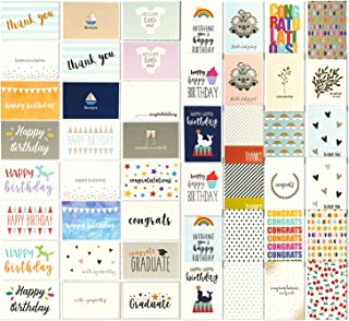 48 All Occasion Greeting Cards - Assorted Happy Birthday, Thank You, Wedding, Blank Designs, Envelopes Included - 4 x 6 Inches