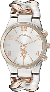 U.S. Polo Assn. Womens Quartz Watch, Analog Display And Stainless Steel Strap - USC40176