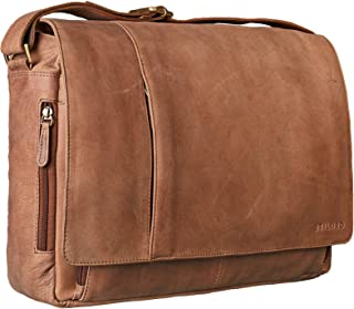 STILORD 'Elias' Bolso de Mensajero o Bandolera de Piel Vintage para Hombre y Mujer Bolsa de Hombro o maletín para portátil...