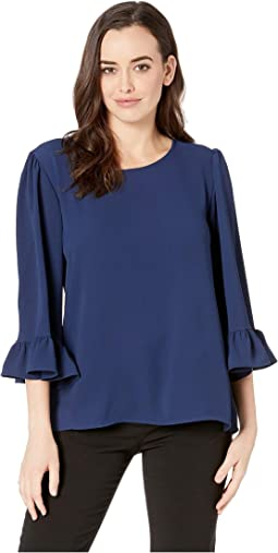 All Self Ruffle Sleeve Top