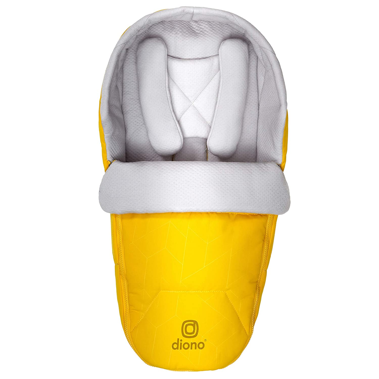 Diono Newborn Pod Stroller Footmuff for Baby, Head Body Support with Temperature Control Inside, Weatherproof, Water Resistant Lining, Universal Fit, Yellow Sulphur