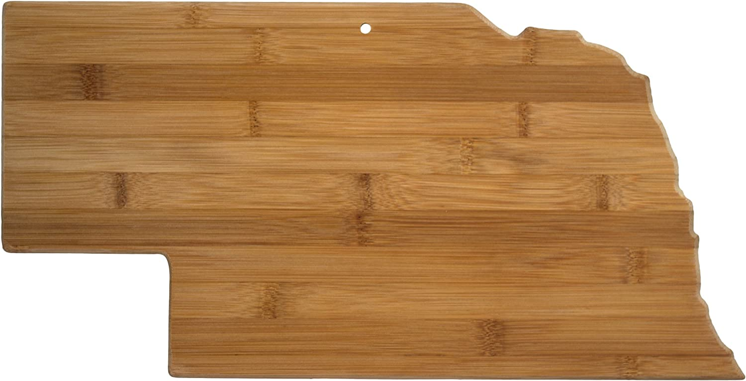 Totally Bamboo Nebraska State Shaped safety Cutting Na gift Serving Board