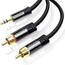 2m Cinchkabel Stereo 3,5mm Klinke zu 2X Cinch AUX Eingänge Audio 3,5mm CSL