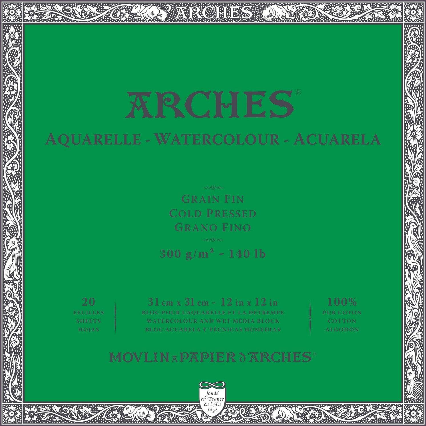 Arches Watercolor Paper Block, Cold Press, 16