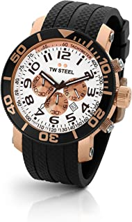 TW Steel Grandeur Diver Men's Rubber Strap Watch with Chronograph Dial