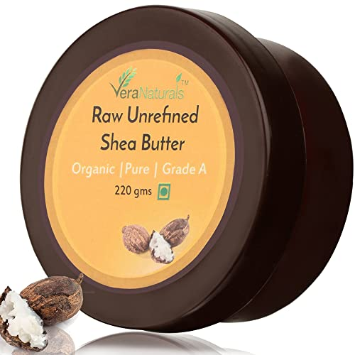 VeraNaturals Raw Unrefined Shea Butter, 220g