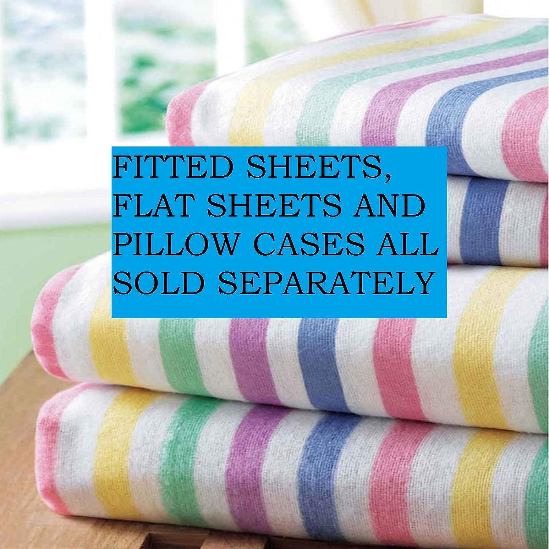 Candy Stripe Single Size Thermal Flannelette Sheet Set