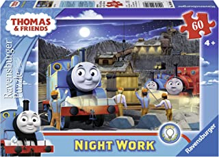 Ravensburger Thomas & Friends Night Work Glow-in-The-Dark 60 Piece Jigsaw Puzzle for Kids – Every Piece is Unique, Pieces ...