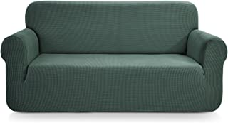 CHUN YI 1-Piece Jacquard High Stretch Sofa Slipcover, Polyester and Spandex 3 Seater Cushion Couch Cover Coat Slipcover, Furniture Protector Cover for Sofa and Couch (Sofa, Dark Cyan)