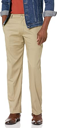 Lee Men's Performance Series Tri-Flex No Iron Relaxed Fit Pant Casual