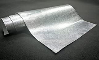 Aluminum Thermal Heat Shield Protection with Fiberglass and Self-Adhesive Backing Heat Barrier- 8 Sq Ft (24x48 Inch)