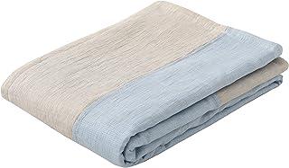 東京西川 麻 肌掛け布団 ブルー シングル 洗える 麻100% 日本製 やわらかタッチ 季ノ布 AE09302040B