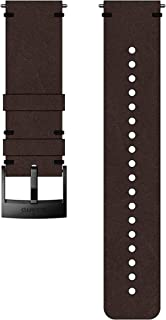 SS050232000 Original Watch Strap for All Suunto Spartan Sport WRH and Suunto 9 Watches, Leather, Length: 22.7 cm, Width: 24 mm, Includes Pins for Attaching the Strap, Brown/Black
